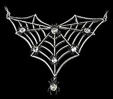 Jeweled Spiders Web Necklace