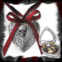 Skull Heart Locket
