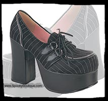Pinstripe Shoes