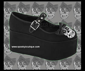 CLICK-04 -Muerto with Bow Platform Maryjanes