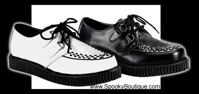 CREEPER-602 - Leather D-Ring Creepers