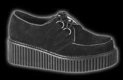 Girls Black Suede Creepers