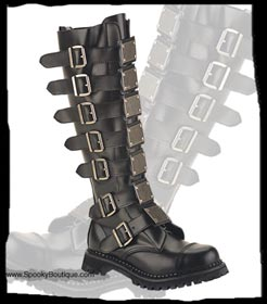 30-Hole Metal Strap Boots