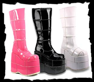 SPOOKY BOUTIQUE - Platforms for Men & Women, Stack Boots, Glam ...