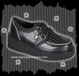 Womens Pinstripe Creepers